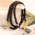 Natural garnet trinkets transshipment ball bead layers bracelet Garnet natural stone bracelet
