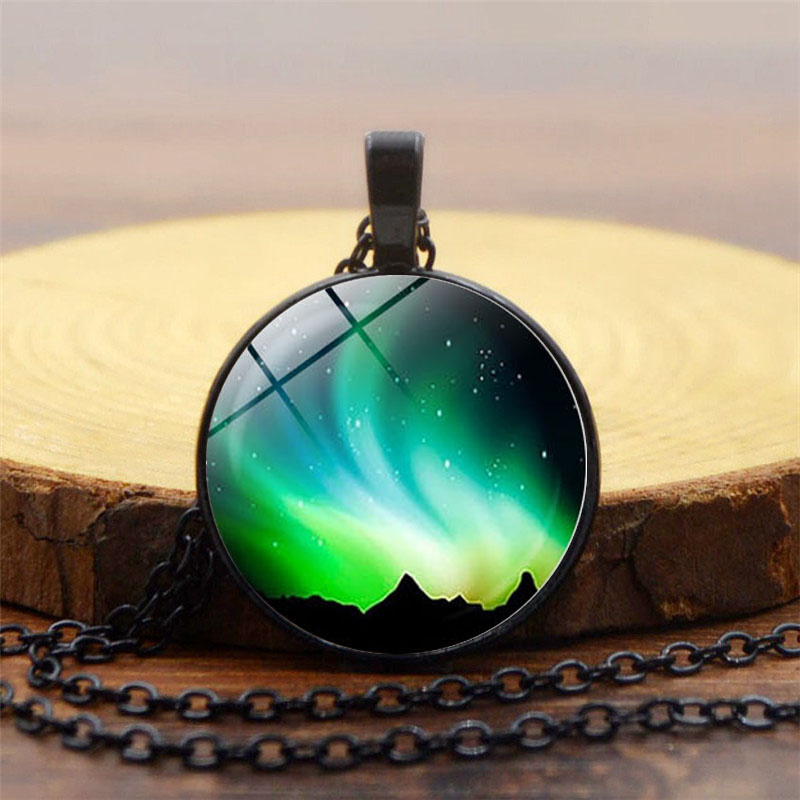 Detail Feedback Questions about For Valentine s Day Gift Northern Lights  Jewelry With Bronze Plated Glass Cabochon Choker Long Angel Wings Pendant  Necklace ... 28a0f2959ee8