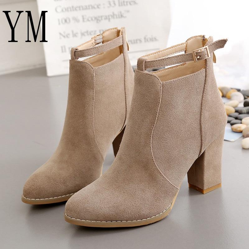 Negro camel Tobillo Tacones Zapatos Caliente Casual Botas Venta Bombas Altos 43 Mujeres Otoño Mujer Plus H022 Invierno aZFnTF0