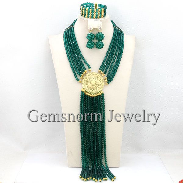 Trendy Teal Green Nigerian African Beads Jewelry Set 2017 Latest Dubai Jewelry Sets  New Free Shipping WB221Trendy Teal Green Nigerian African Beads Jewelry Set 2017 Latest Dubai Jewelry Sets  New Free Shipping WB221