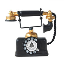 Vintage European Resin Telephone Model Decor Handicraft Furnishing Articles Craft Friend Gifts Home