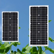 Panel Solar 12v 20w Monocrystalline Solar Car Battery Charger Car Camp Caravan Solar Home System Rv Motorhome Phone Charger