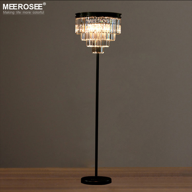 New Arrival Floor Lamp Crystal Standing Light Fixture Cristal Candelabra Stand Re For Living Room Dining