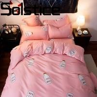 Solstice домашний текстиль мода простой и удобный сухой и реактивной печати постельное белье Стёганое одеяло наволочка постельные