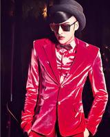 S 5XL ! New Gold Velvet Formal Dress Men Singers DS Nightclub DJ Suit Dress Male Red Cashmere Suit Fit Slim Stage Costumes !