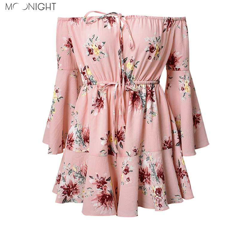 MOONIGHT Off Shoulder Floral Print Women Jumpsuit Romper Elegant Short Playsuits Summer Beach Vacation Jumpsuits For Women 2018