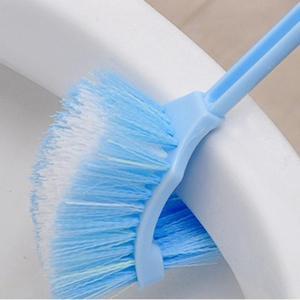 Portátil dupla face escova de vaso sanitário plástico punho longo banheiro esfrega escova limpeza alta qualidade acessórios do banheiro|cleaning brush|plastic scrub brush|bathroom cleaning brushes -