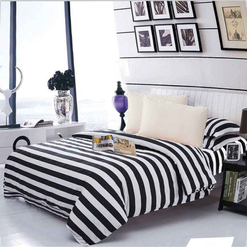 LAGMTA 1pc 100% polyester black and white series duvet cover customizable to any size comforter cover