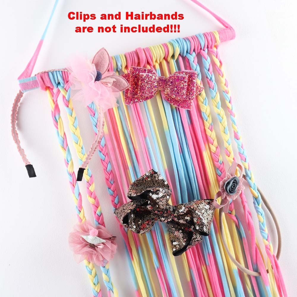Kids Girls Women Hairband Bow Holder Hanger Hair Clips Storage Wall Organizer