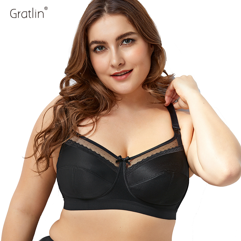 Image 1 - Gratlin Women's Comfort Maternity Non Padded Wirefree Lace Trim Nursing Bra-in Maternity & Nursing Bras from Mother & Kids