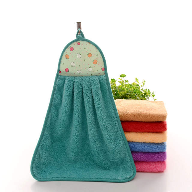 US $0 69 30% OFF|Wholesale super absorbent microfiber towels coral fleece  hand towel hanging kitchen towels kitchen cleaning cloth towel 35*45cm-in