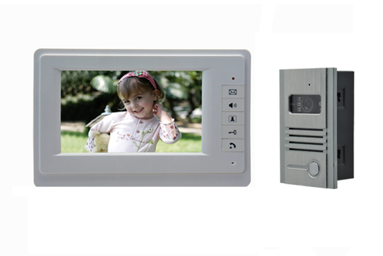 7 Inch Screen  600TVL Door Camera Two Way   Intercom  Video Door Phone