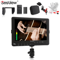BESTVIEW S7 4K Camera HDMI HD Monitor 7 DSLR LCD Monitor 1920*1200 w/ Battery Kit+Magic Arm Adapter+Case for Canon 5D Mark IV..