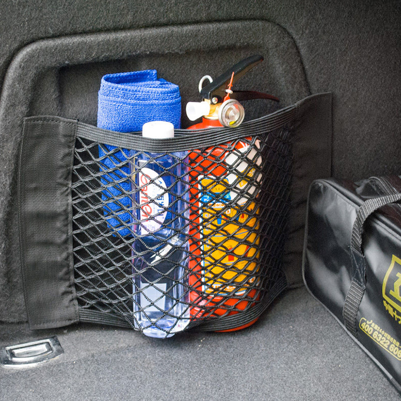 >1x Car Trunk Organizer Storage Bag Pocket Cage For Ford <font><b>Focus</b></font> <font><b>2</b></font> <font><b>1</b></font> Fiesta Mondeo 4 3 Transit Fusion Kuga Ranger Mustang KA S-max