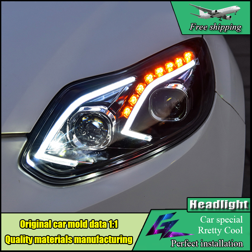 Car styling Head Lamp Case For Ford Focus MK3 2012-2014 Headlights LED Headlight DRL Low Beam HID Xenon Moving Turn Signal Light