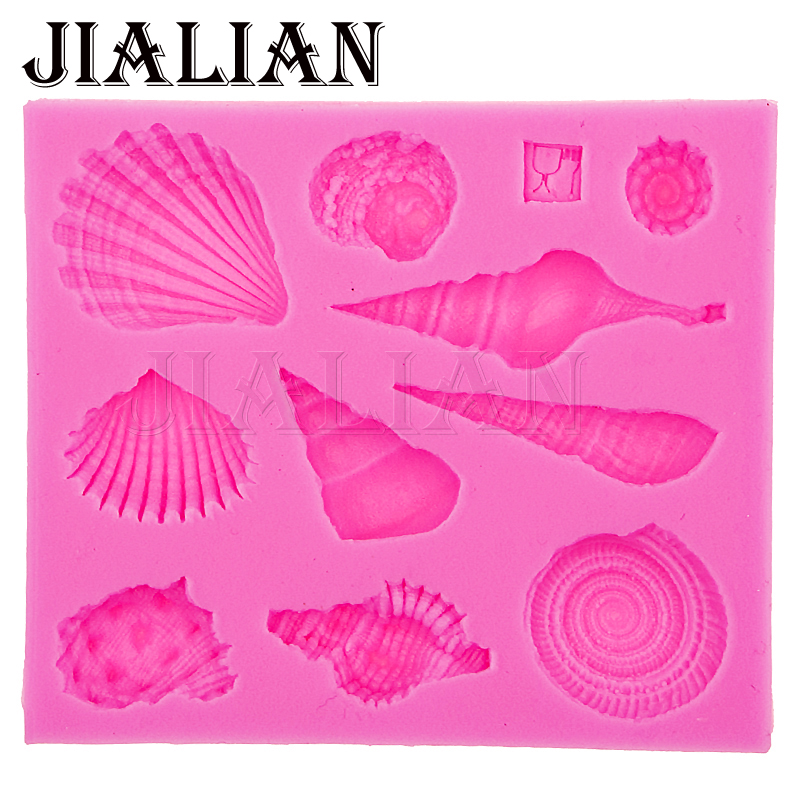 3D Marine life shell conch DIY silicone baking <font><b>tools</b></font> kitchen <font><b>accessories</b></font> <font><b>decorations</b></font> for <font><b>cakes</b></font> <font><b>Fondant</b></font> mould T0542 image