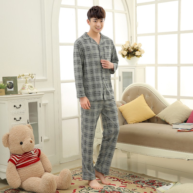 Men\'s Cotton Polyester Pajama Sets RBS-C LYQ1414 2