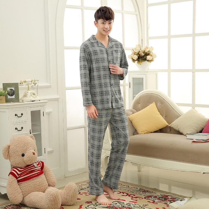 Men\'s Cotton Polyester Pajama Sets RBS-C LYQ1414 2