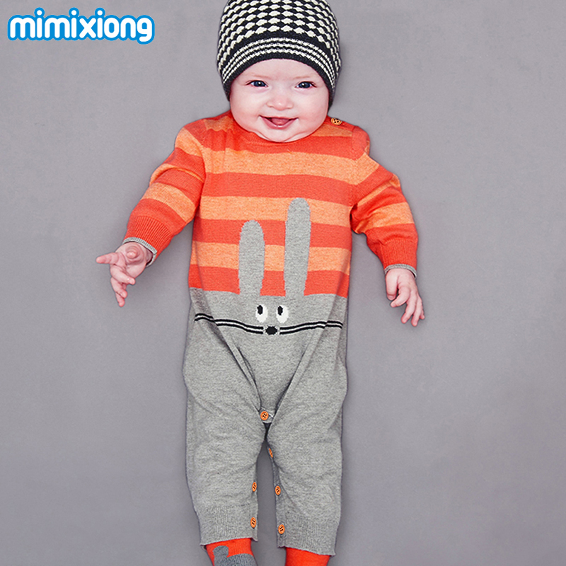 Cartoon Baby Girl Rompers Jumpsuits Autumn Long Sleeves Newborn Boys Cotton Overalls Spring Children's One Piece Coveralls 0-24M new 2016 autumn winter kids jumpsuits newborn baby clothes infant hooded cotton rompers baby boys striped monkey coveralls