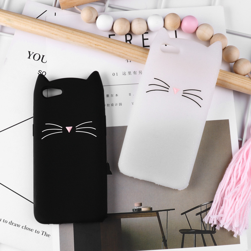 3D Cute Silicone Case For OPPO R17 Cases Anti-Knock Cover For OPPO F7 F5 R9 R9S R11 R11S A83 A79 A57 Cover Coque Fundas