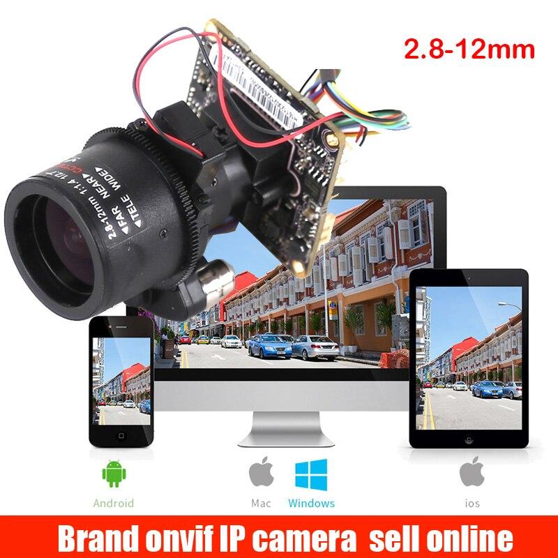 Zoom automatique 3X Zoom motorisé 2.8mm-12mm Full HD 1080 P 1/2. 9 ''SONY CMOS IMX322 AR0130 Module de caméra IP carte PCB + câble