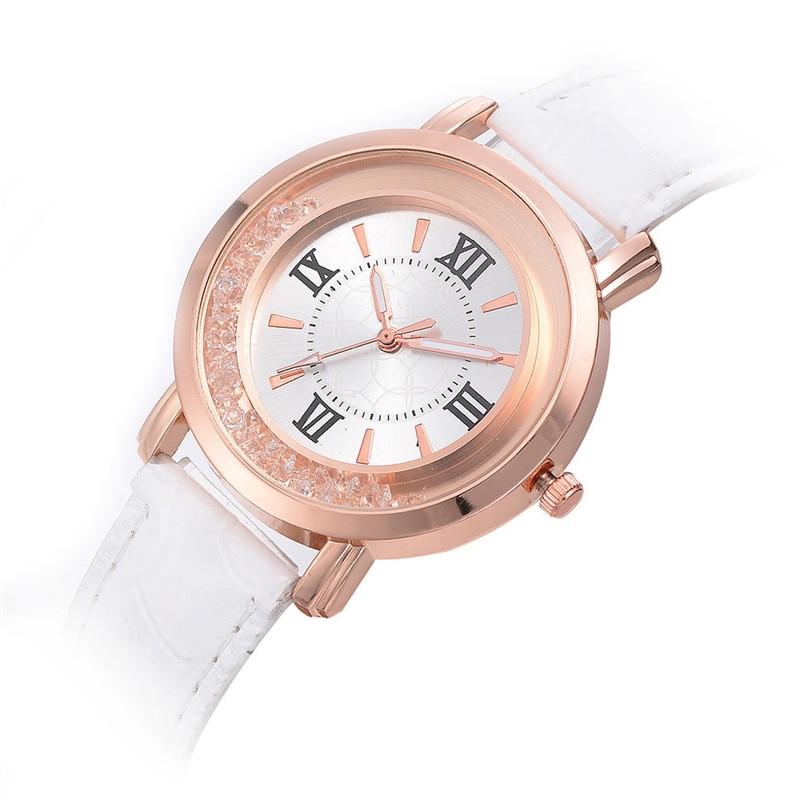 2019 Women Watch Quartz Brand Lady Watches Women Luxury White Round asual Leather Dress Wrist watch Relogio saat erkekler 4FN