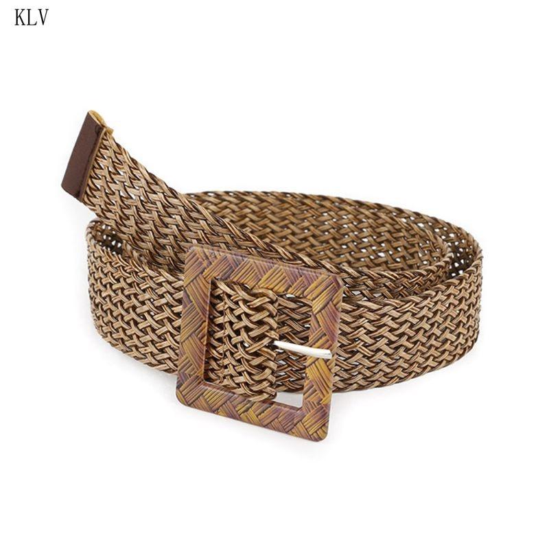 KLV Belts Bohemian-Style Dress Hollow-Out-Belt Breathable Women Docoration Lady