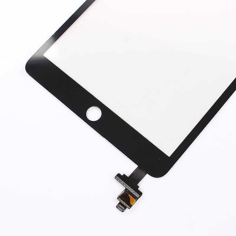 الجبهة محول الأرقام زجاج الصحافة قطع غيار للشاشة + Ic رقاقة مع زر المنزل لباد Mini 3
