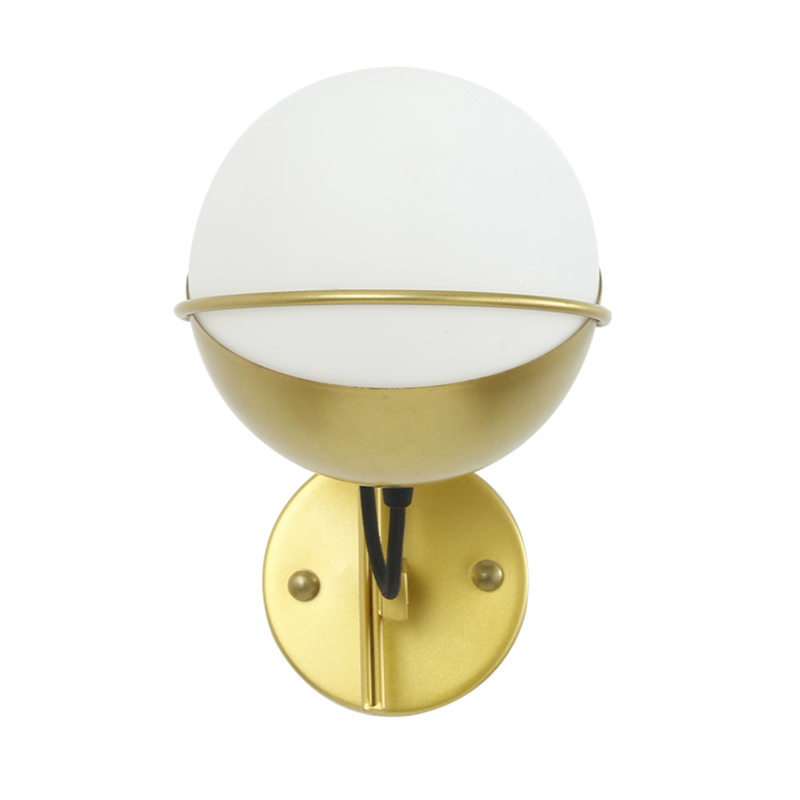 ФОТО Modern rotatable ed wall lamp Toolery E14 5W AC220 glass lampshade gold color wall lights single head for home free shipping