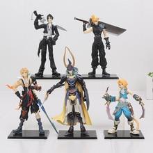 5pcs/set 11 18cm Final Fantasy PVC Figures Collectible Model Toys Cloud Strife Squall Leonhart Tidus Warrior of Light Zack Fair