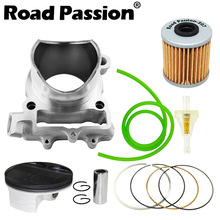 Road Passion Motorcycle Engine Cylinder + Piston + Rings 77mm (Cylinder diameter) For KAWASAKI KXF250 KXF 250 2004-08/2009-2016 xr250 piston kit rings set motorcycle engine parts piston set for xr 250 25 cylinder oversize bore size 73 25mm new
