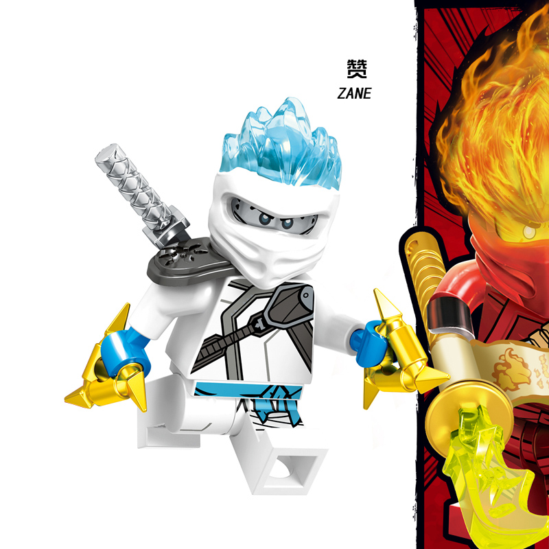 1 шт. ниндзя Кай Джей Коул Зейн Ллойд Нья Мини фигурки Строительные блоки Детская игрушка подарок Совместимость с legoingly ninjagoo для детей - Цвет: RZGA116