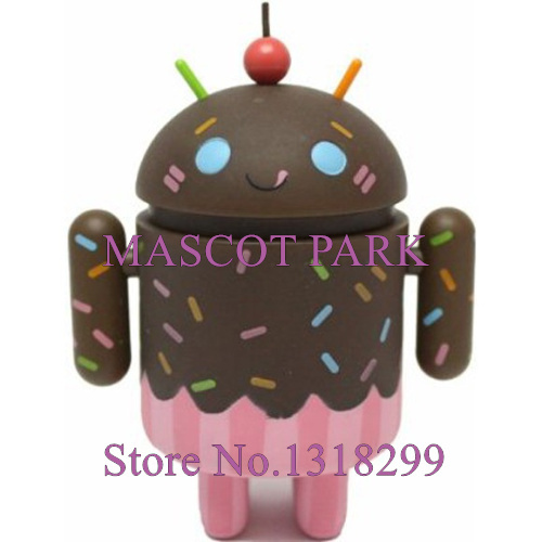 Cute Chocolate Cream Cake Style Android Robot Mascot Costume Adult Professional Custom Robot Android Mascotte Fancy Dress Kits