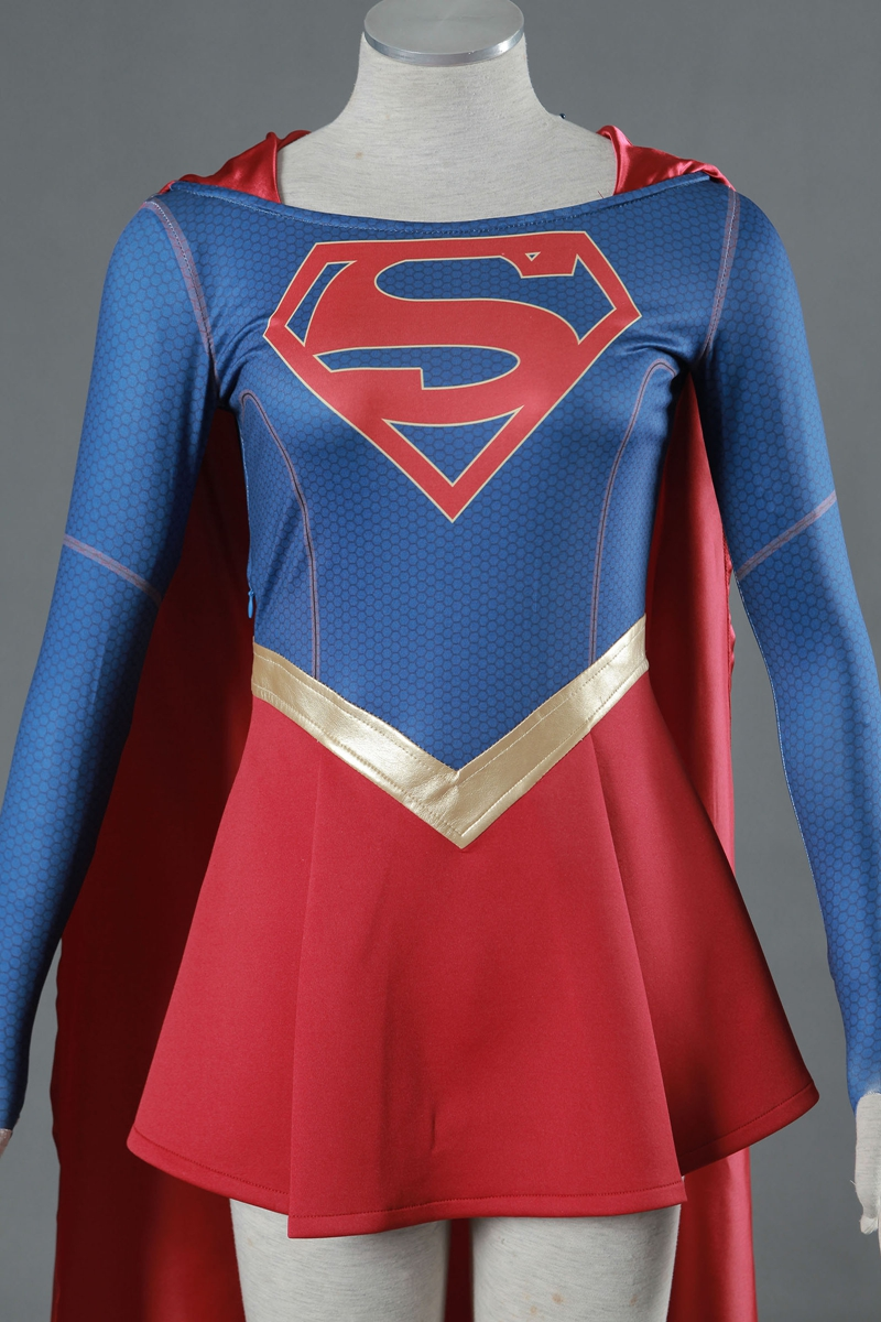 Anime Costumes Qualified Supergirl Kara Zor-el Danvers Costume Cape Cosplay Costume Halloween Carnival Costumes Tailor Made Excellent Quality