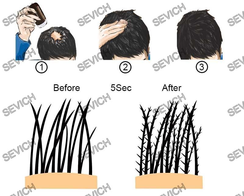 10 rəngli Ən yaxşı Saç Qalınlaşdırıcı Liflər Keratin Lif - Saç qayğı və üslubu - Fotoqrafiya 3