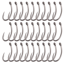 Lixada 30Pcs/lot Fishing Curve Hooks 6#/8#/10#  PEFT Barbed Fishhooks Carp Tackle Accessories