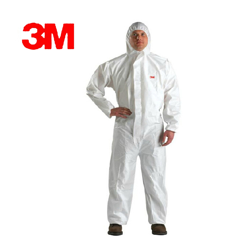 3M 4510White non-woven tyg Coverall Kläder Antistatisk och - Säkerhet och skydd - Foto 2
