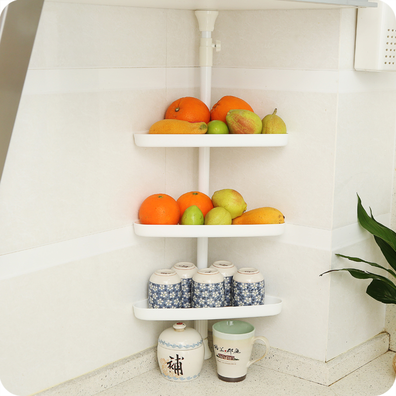 3 Tier Adjustable Shower Organiser Corner Shelf Bathroom