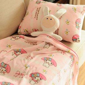 Мягкий чехол для подушки с бантом из мультфильма «My Melody», 1 шт., плюшевое фланелевое одеяло, простынь, Женский Романтичный подарок, игрушка дл...