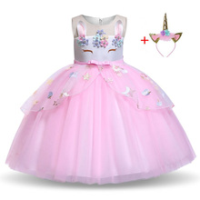 Flower Girls Unicorn Dress Pageant Princess Party for Kids Christmas New Year Easter Carnival Cosplay