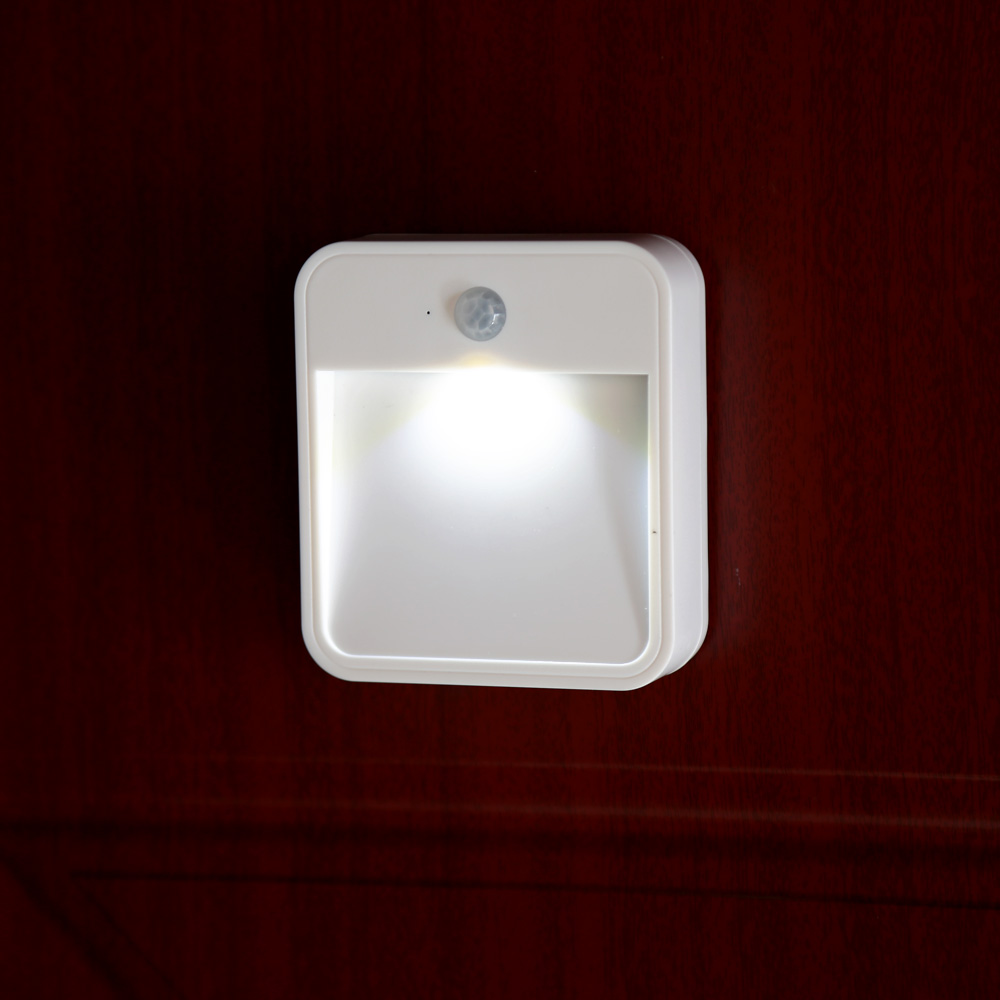 Led Motion Light Wireless Sensor Led Night Light Wall Light Lamp White Battery Powered For