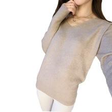 Женский пуловер 2016 v/batwing 4XL
