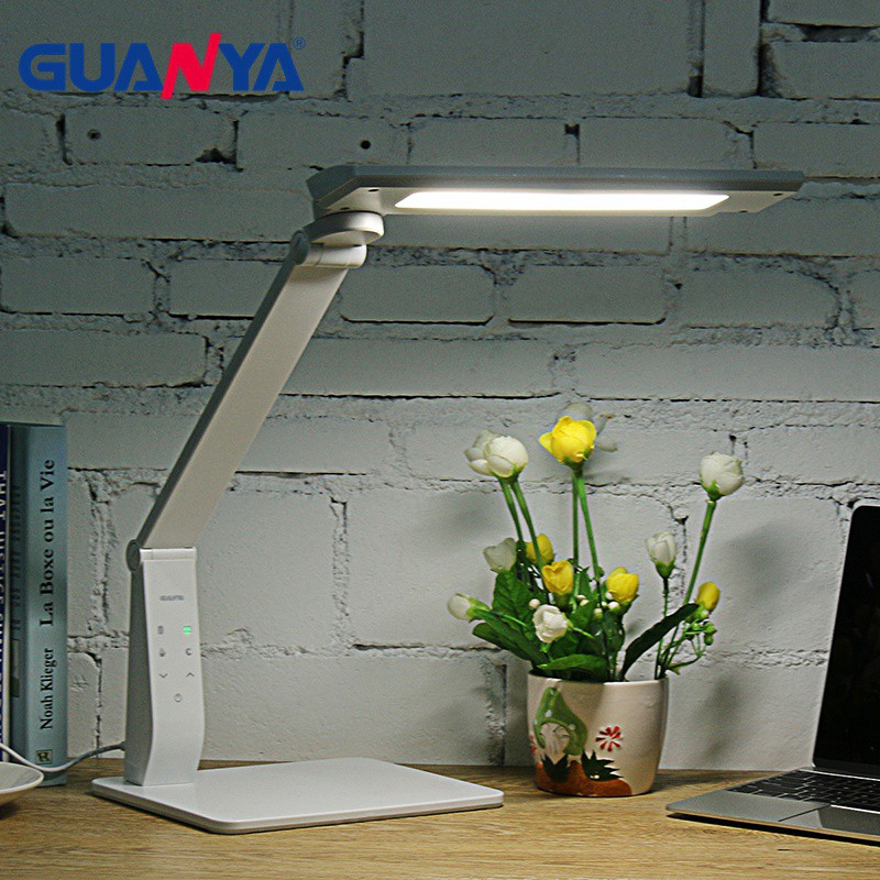 GUANYA 10W LED Desk Lamp Brightness Color Dimmable Eye Care LED Table Light Lamp Reading Light Lamp with USB Charging Port original adidas men s two colors basketball shoes d69561 sneakers free shipping