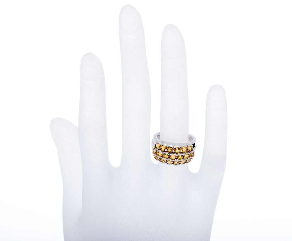 Hutang Pedras Preciosas Citrino Anéis Sólidos 925 Sterling Prata Anel de Cluster para Mulheres Belas Clássico Elegante Jóias Melhor Presente