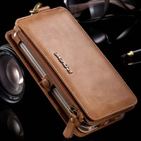 PU Leather Folding 18 Card Slots Wallet Case Business Retro Noble Men Women Cover Bag For