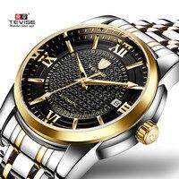 Luxury Brand TEVISE Business Men Watch Calendar Automatic Mechanical Watch Steel Waterproof Luminous Casual Male Wrist