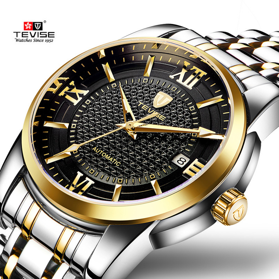 Luxury Brand TEVISE Business Men Watch Calendar Automatic Mechanical Watch Steel Waterproof Luminous Casual Male Wrist Watches power bracket gift sony hd camera 1 3ccd effio 4140 700tvl waterproof ip66 osd menu 6led six array night vision 50m home vidicon