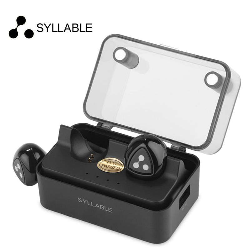 Syllable D900 MINI D900S Updated Version Stereo Bluetooth Earphone Headset Wireless Earbuds with Charge Box for iPhone 6 7
