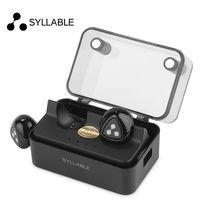 Syllable d900 mini d900s güncellenmiş sürümü için stereo bluetooth kulaklık kulaklık kablosuz şarj kutusu ile kulakiçi iphone 6 7