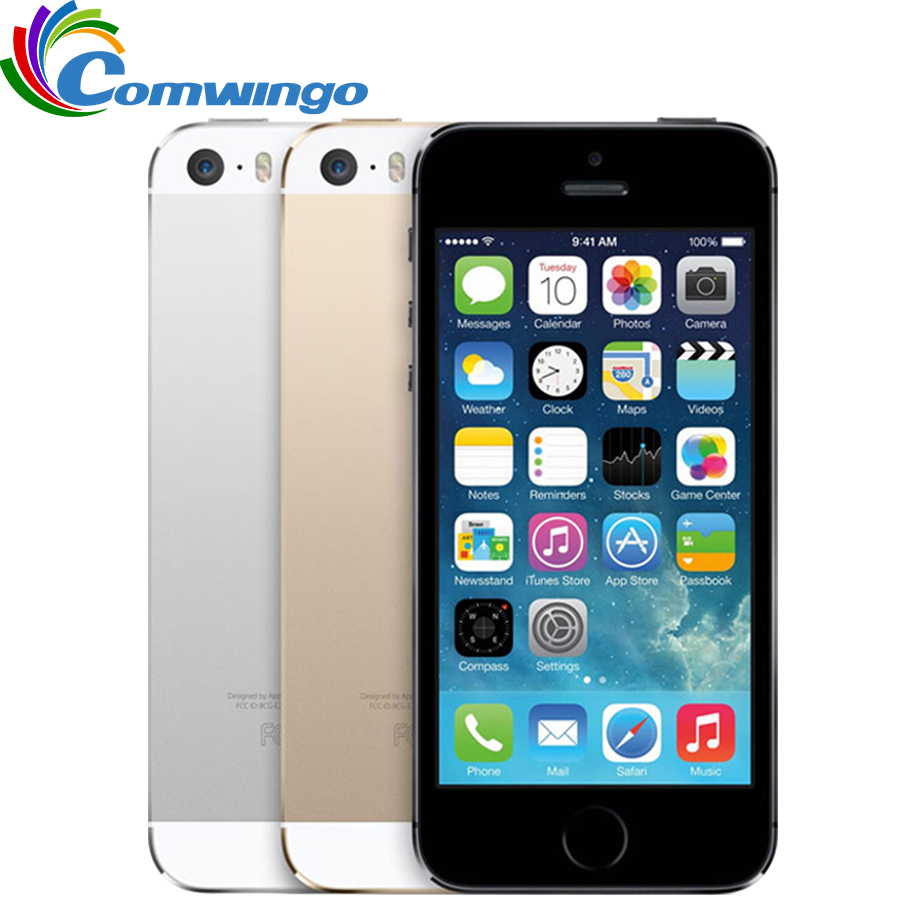 Original Factory Unlocked Apple iphone 5s phone 16GB / 32GB ROM IOS White Black GPS GPRS A7 IPS LTE Free Gift 1 year warranty